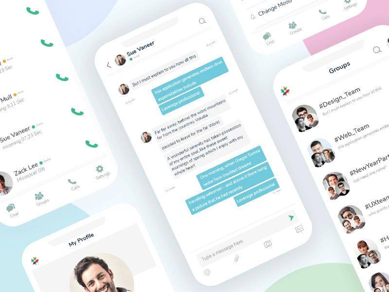 Slack - Mobile App ReDesign Concept (XD Freebie) by Towkir