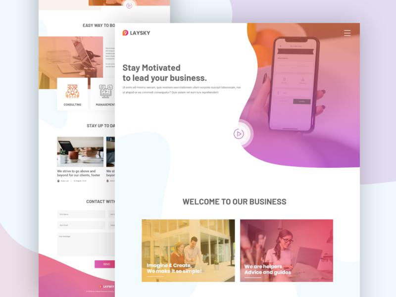 Laysky Website Home Page Design Concept website landing page business webdesign web template ux design ui design design ui ux