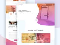 Laysky Website Home Page Design Concept