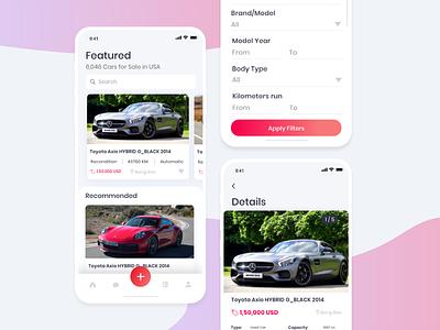 Car Selling Mobile App Design Concept mobile ux mobile app design mobile app mobile ui used car car sell car selling app ux design ui design design ui ux