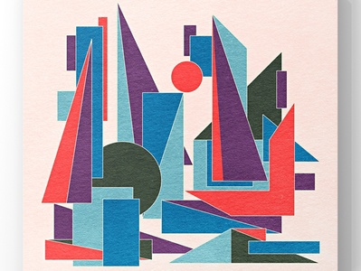 Abstract cityscape in geometric shapes illustration surface design interior colorful architecture creative concept pattern design design illustration graphic design graphicdesign geometric design geometric art geometric cityview city guide city branding city illustration city cityscape