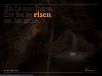 Easter 2020 mouse move interactions webflow ui design web design risen christ life death tomb resurrection jesus bible easter