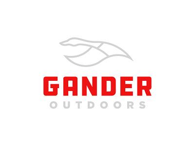 Gander Outdoors mark mountains goose identity branding logo gander outdoors