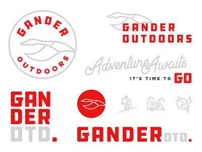 Gander Outdoors mountains identity goose branding mark logo outdoors gander