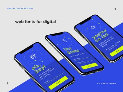 Revive Display Web Fonts