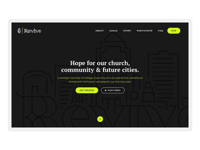 Revive Website Landing