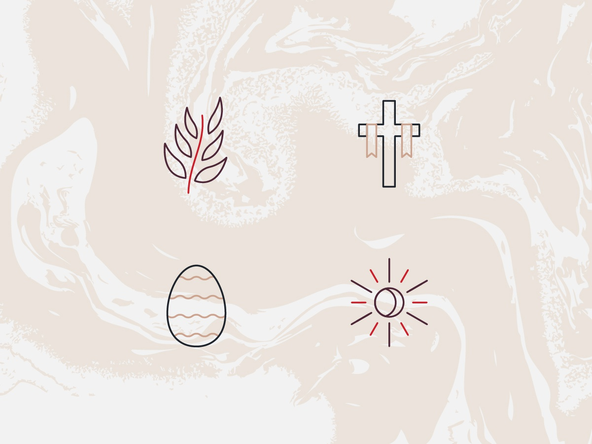 Victory Icons icons victory easter branding logo easter flyer christ christian branding and identity blood crucifixion cross wave fluid typography vector illustration