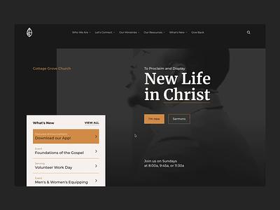 Cottage Grove Church Website events gospel cottage grove jesus christ sermons design minimal typography branding ux ui webflow website design website church