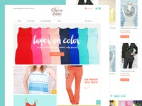 Colorful clothing shop