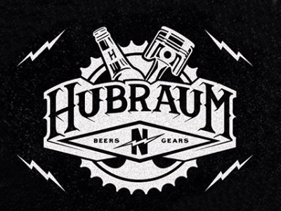 HUBRAUM typography moto work commision pub bar beer