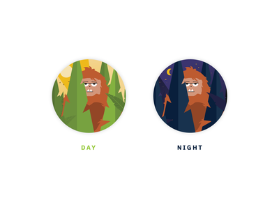 Sasquatch Chatbot icon woods forest illustration bigfoot sasquatch avatar icon drift