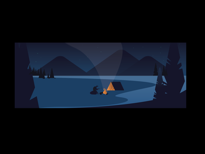 Camping Email Header moutain national park camp campfire mountains lake camping