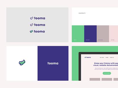 Brand Identity for Tooma logodesign logo mark dinosaurs brand guide brand identity brand dinosaur dino