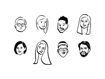 Avatar Illustrations avatardesign faces people icon iconset avatar design avatar icons profiles ipad app ipad illustration avatar