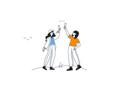 Cheers! happy women hike women hikers cheerful champange cheers