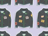 Leather Sigstr Jacket Sticker