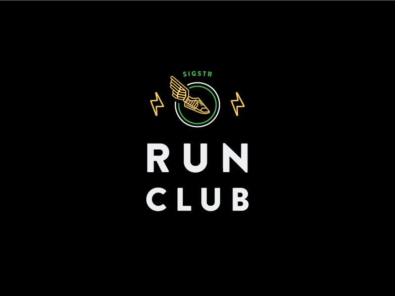 Sigstr Run Club lightning bolts tennis shoe running shoe shoe sigstr running club run club run