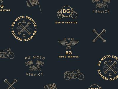 BG Moto Service Logo Exploration