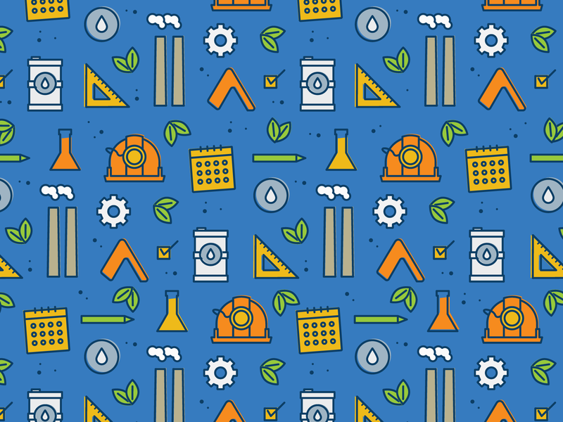 Encamp Pattern oil oil can calendar hard hat safety health environmental blue pattern icon pattern