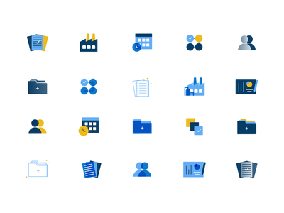Icon Exploration ehs manager ehs yellow blue organize icon organization icon file icon filing icon reporting icon report icon tasks icon team icon tasks exploration icon exploration iconography icon design icon set icons