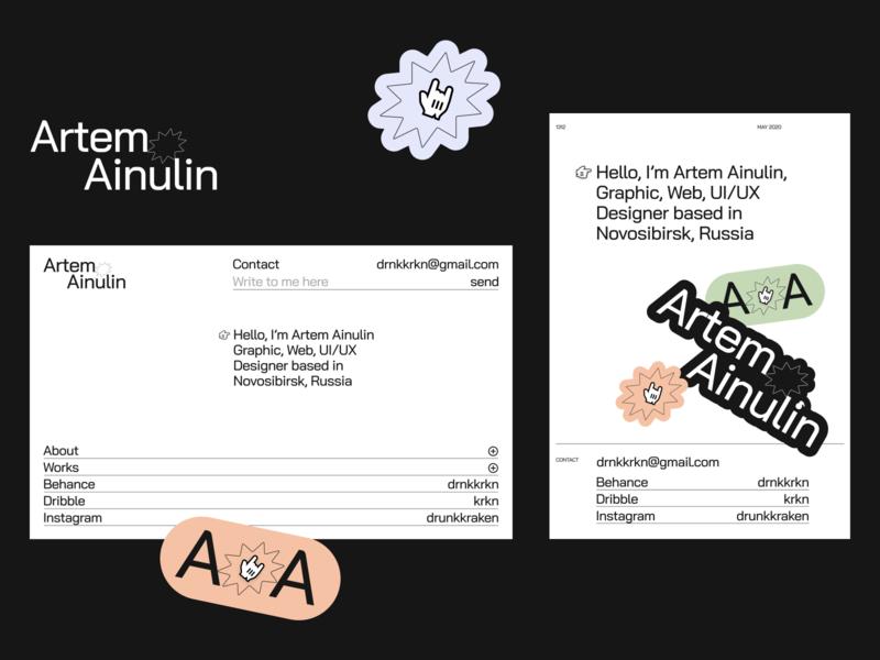 Artem Ainulin Branding logo website web design web ux uiux ui graphic design branding brand identity