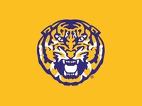 LSU Tiger Head Refresh 2013