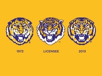 LSU Tiger Head History