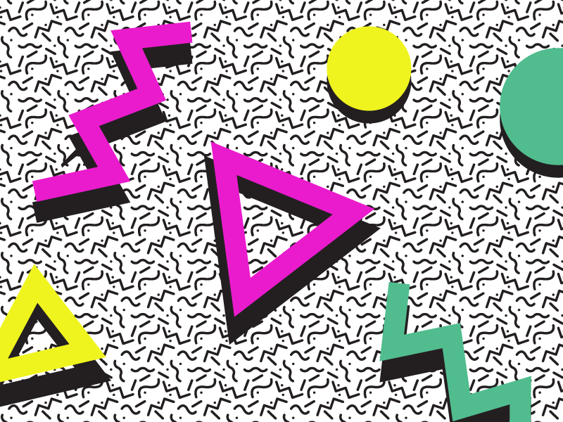 80s Pattern by Eli Fitch on Dribbble