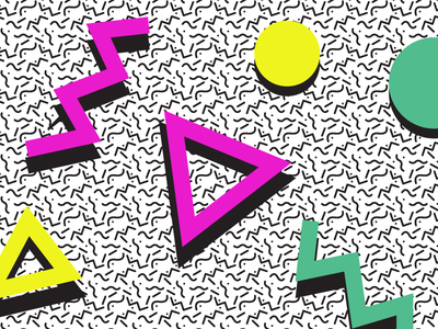 80s Pattern shaps shapes cool rad 80s