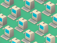 Low Poly Mac Classic Pattern