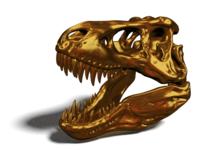 Gold T-Rex Skull