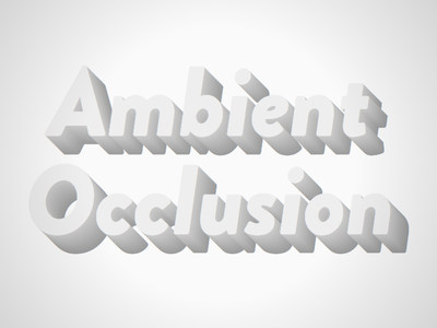 3D Text with ambient occlusion mixin ao ambient occlusion 3d text 3d mixin