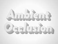 3D Text with ambient occlusion mixin
