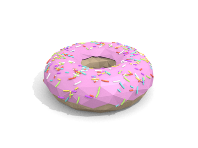 Low Poly Donut donut low poly 3d blender