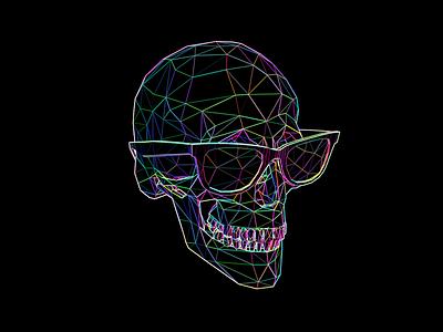 Skull Rainbow Edge Detect skull blender 3d everyday