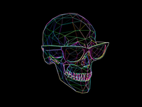 Skull Rainbow Edge Detect