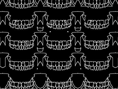 Smile pattern teeth 3d blender art everyday everyday