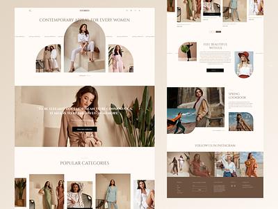 Main page for online clothing store marketing design landing ecommerce online store ux logo branding graphic design ui