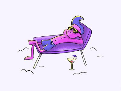 Summer holidays chilling chill glasses summertime summer sun adobe photoshop branding app agency website illustration digital illustration