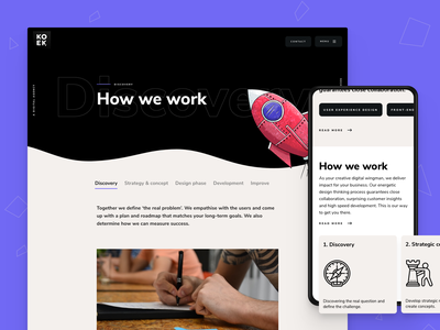 Koek.nl small update branding web design webdesign pwa webapp ui app ux website agency website