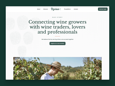 Revino, the newest wine platform platform web design webdesign pwa ui ux website webapp branding