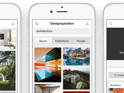 Introducing the Designspiration Mobile Website search simple waterfall grid minimal website mobile designspiration