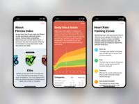 Info Screens in Body Fitness iPhone app