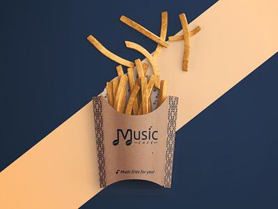 Music Cafe - 3 part restaurant music logo cafe logo branding design branding brand identity brand development brand design brand