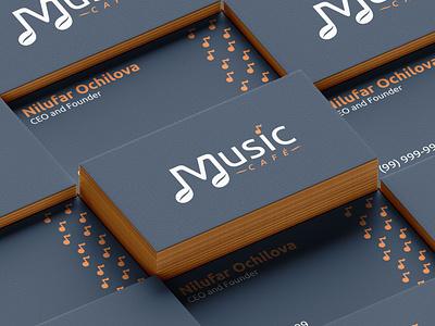 Music Cafe - 3 part restaurant cafe logo brand designer branding design agency brand development branding design branding brand identity brand design brand