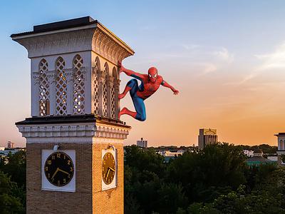 Spiderman is in Tashkent, Uzbekistan! branding branding design brand identity brand development brand design photograhy photoshop art photoshop design avangers marvel spiderman