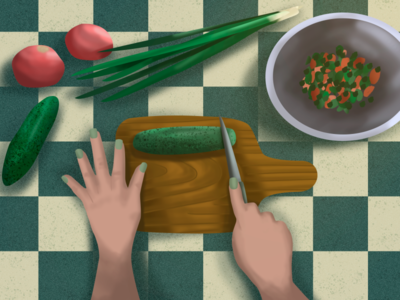 Kitchen raster illustration delicious vegetables kitchen dawn