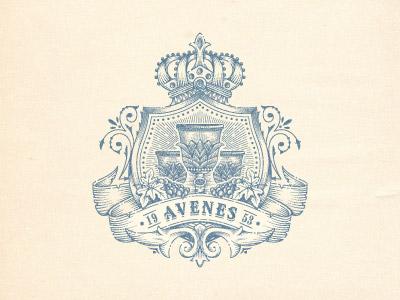 Avenes crest logo design vintage jcdesevre vector logo designer emblem label logo retro graphic design