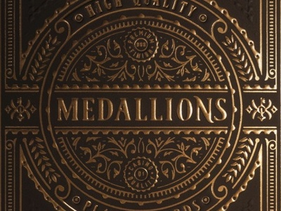 Medallions Playing Cards vintage gold medallions jcdesevre typography theory11 luxury design illustration art packaging embossed