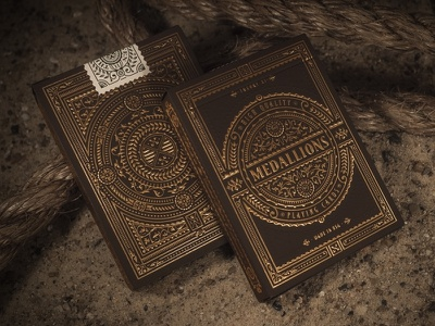 Medallions art design typography medallions jcdesevre vintage luxury gold theory11 illustration packaging embossed